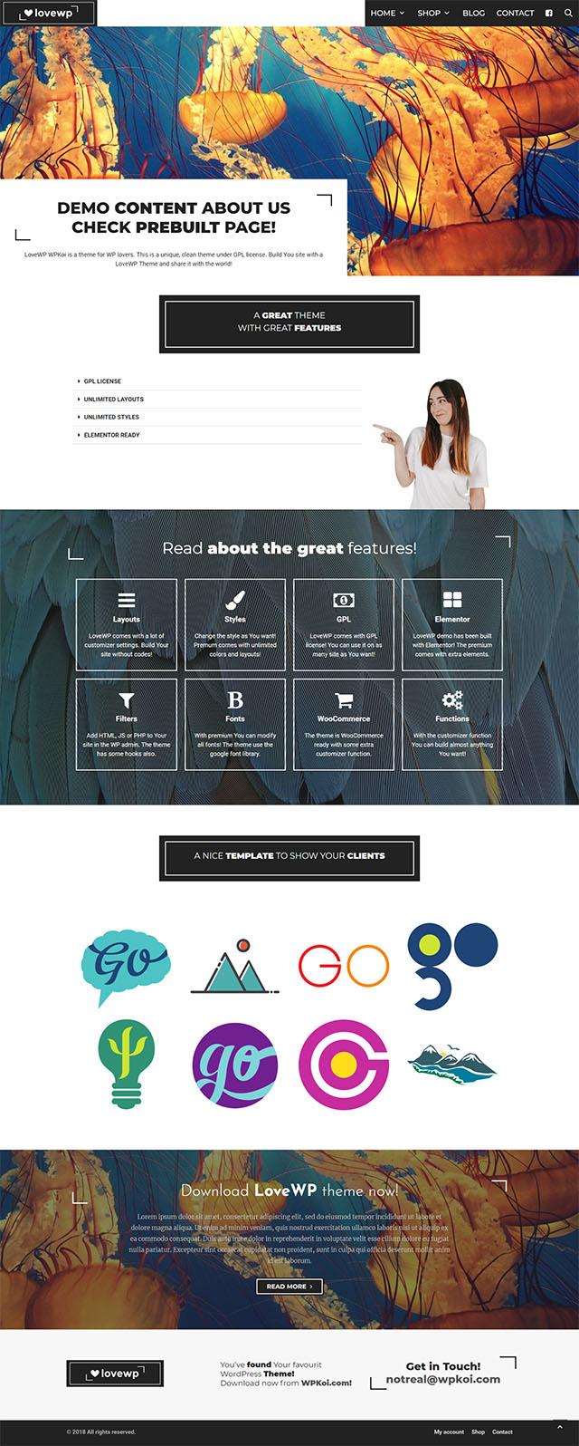 Page templates - WPKoi