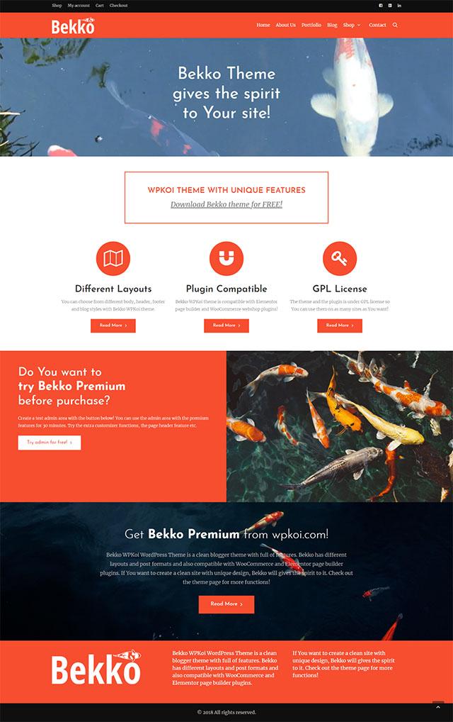 Bekko WPKoi WordPress Theme - WPKoi